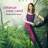 CD Cover: Strange New Land Nadia Birkenstock Keltische Harfe